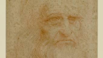 Ein Selbstporträt des italienischen Renaissance-Malers Leonardo da Vinci vermutlich aus dem Jahr  1512.