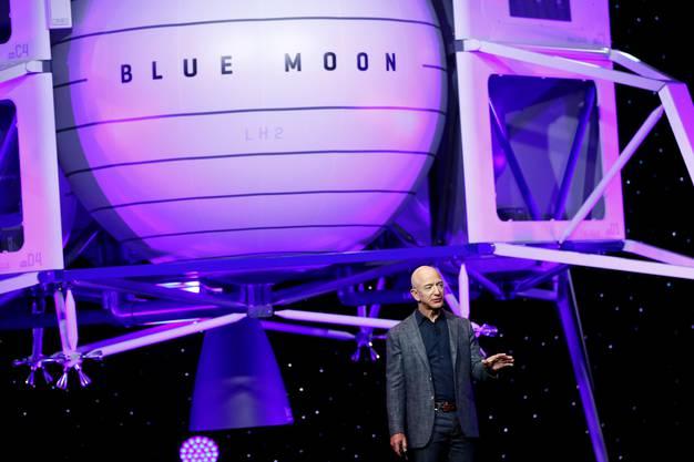 Jeff Bezos ist reicher als Elon Musk, dafür ist sein Weltraumunternehmen Blue Moon weniger bekannt.