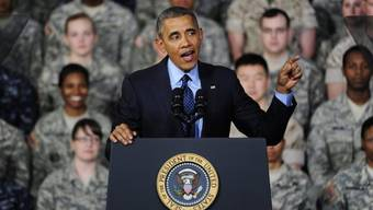 US-Präsident Barack Obama vor amerikanischen Soldaten in Seoul