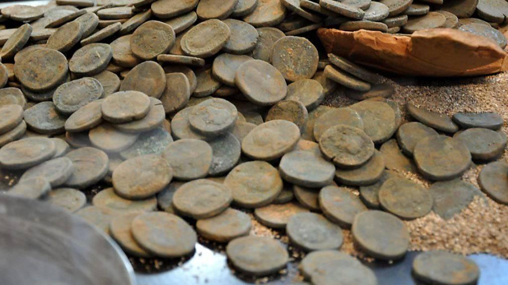 Der Schatz von Orselina besteht aus römischen Münzen des ersten bis dritten Jahrhunderts.