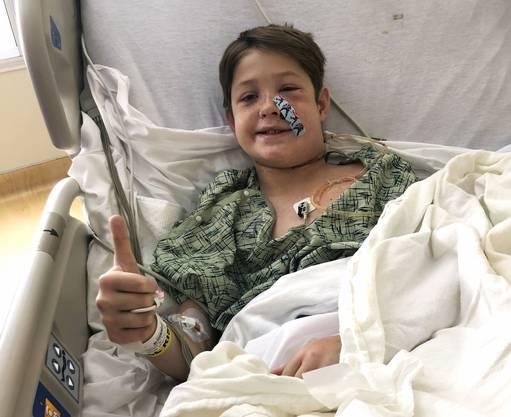 Die Chancen stehen sehr gut, dass der Junge vollständig genesen wird, glauben die Ärzte.