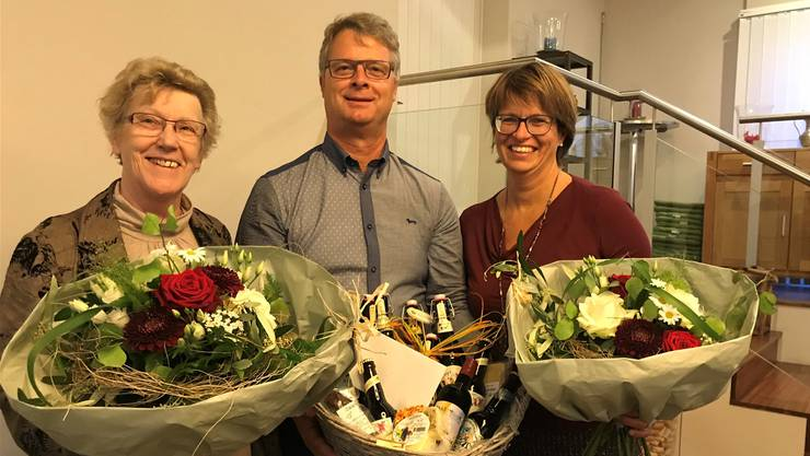 Johanna Bartholdi, Rolf Stadelmann und Karin Bütler.