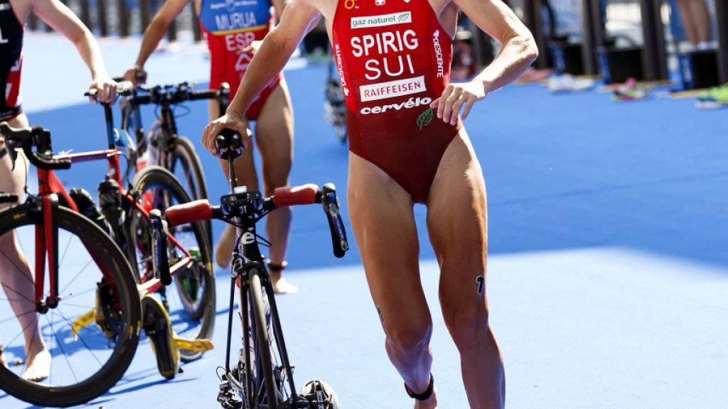 Nicola Spirig stürzte zum Auftakt der WM-Serie in Abu Dhabi im Radfahren und verletzte sich