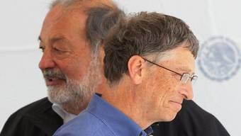 Die beiden Reichsten: Carlos Slim (links) und Bill Gates