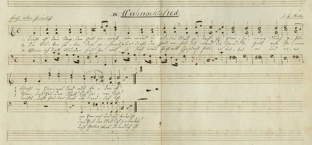 Ein Weihnachtslied aus dem Archiv der evangelisch-reformierten Kirche des kantons St.Gallen. (Bild: Staatsarchiv St.Gallen)