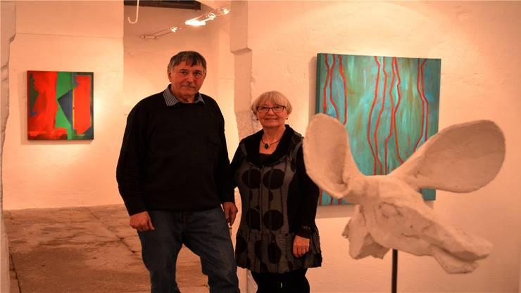 Ueli und Ursula Schneider bezeugen mit ihrer Ausstellung die langjährige Verbundenheit mit dem Müllerhaus und seinen Bewohnern.