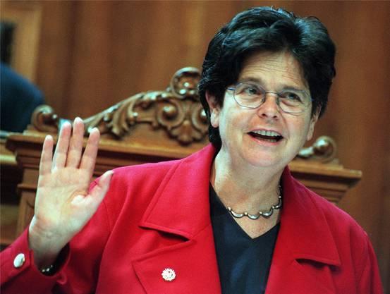 Wurde zu einer dominanten Persönlichkeit im Bundesrat. Beharrlichkeit, Berechenbarkeit und Kompetenz trugen ihr auch beim politischen Gegner Respekt ein.
