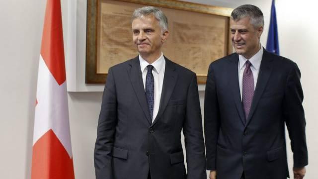 Hashim Thaci (rechts) und Didier Burkhalter