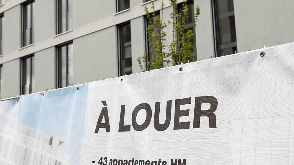 Die Mieten in der Schweiz sind leicht gesunken: Wohnungen in Genf (Archivbild).