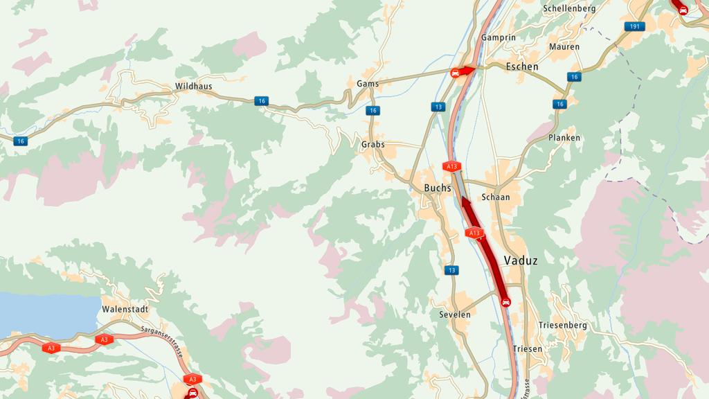 Ski-Ladung auf der Autobahn verloren