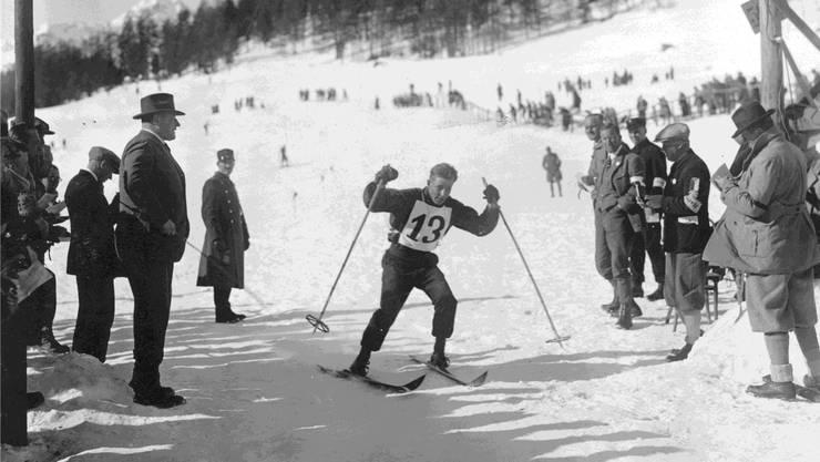 Der Finne Veli Saarinen schaffte es beim olympischen Langlaufrennen über 18 Kilometer in St. Moritz 1928 auf den vierten Rang.
