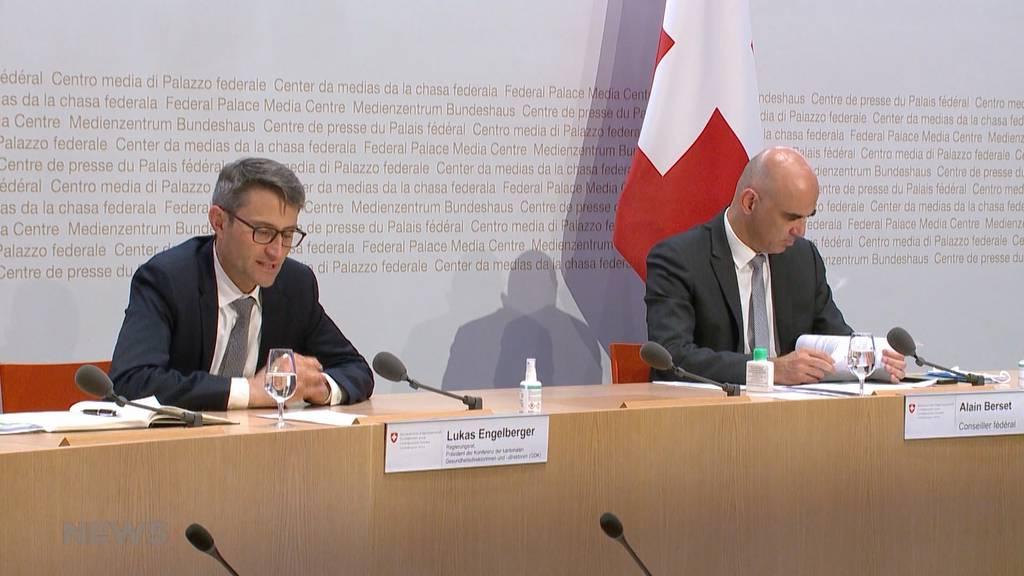 Strengere Massnahmen: Gesundheitsdirektoren appellieren an Bund und Kantone