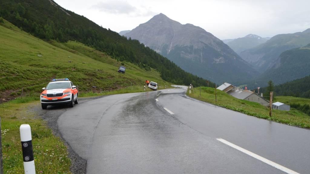 Der Unfall ereignete sich auf der Albulastrasse bei La Punt Chamues-ch GR.