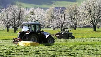 Bis zu 300 Schweizer Bauern sind auf Feldern ennet der Grenze in Süddeutschland tätig. (Symbolbild)