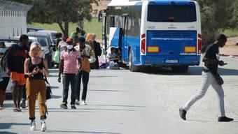 400 Menschen leben im Lager von Kofinou. Die Container sind klimatisiert. Es gibt gratis Shuttle-Busse in die Stadt.