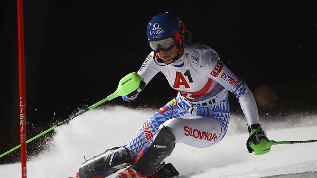 Petra Vlhova ist die Schnellste in Flachau.