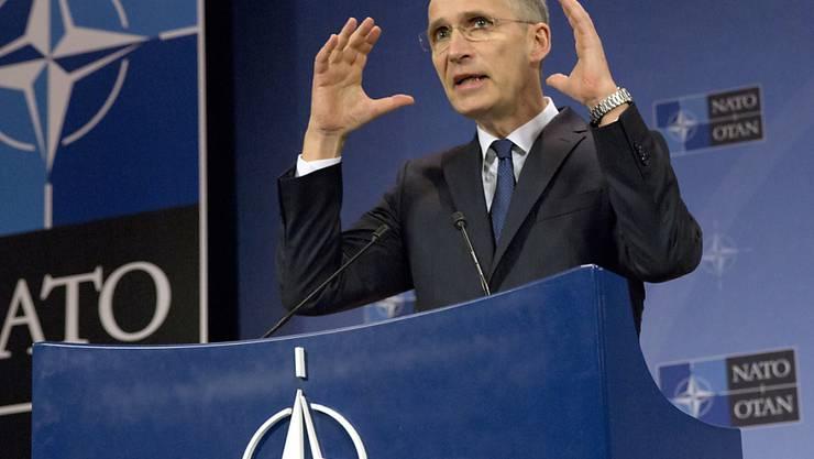 Nato-Generalsekretär Jens Stoltenberg hat sich in der Öffentlichkeit dazu geäussert, wie er sich das Verteidigungsbündnis in Zukunft vorstellt. (Archivbild)