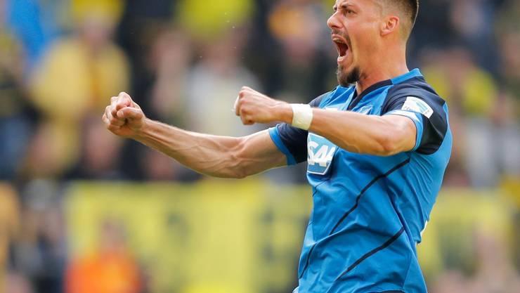 Sandro Wagner feiert einen Treffer für das Bundesliga-Überraschungsteam Hoffenheim und wird mit einem Nationalmannschafts-Aufgebot belohnt
