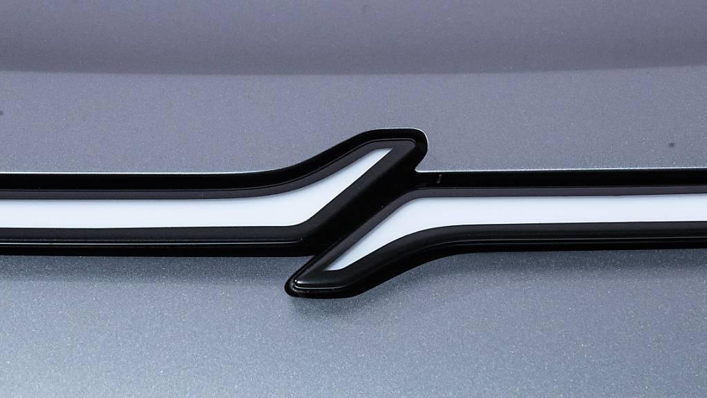 Das Elektroauto «Vision-S» von Sony - im Bild das Logo - soll über 5G Steuersignale synchronisieren und seine Software aktualisieren. (Archivbild)