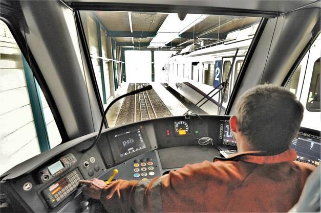 Spezialanfertigung für die WSB: Der Lokführer sitzt in der Mitte und verfügt über die bestmögliche Sicht auf alle Seiten.