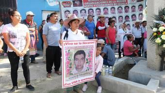 Cristina Bautista sucht ihren Sohn Benjamín, einer der 43 verschwundenen Studenten in Mexiko
