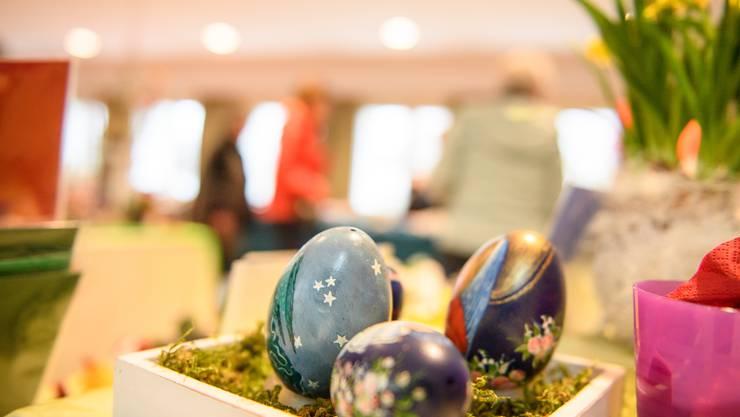 Am 30. Ostereiermarkt in Gerlafingen konnte man eine Vielzahl von verschieden verzierten Ostereier bestaunt werden.