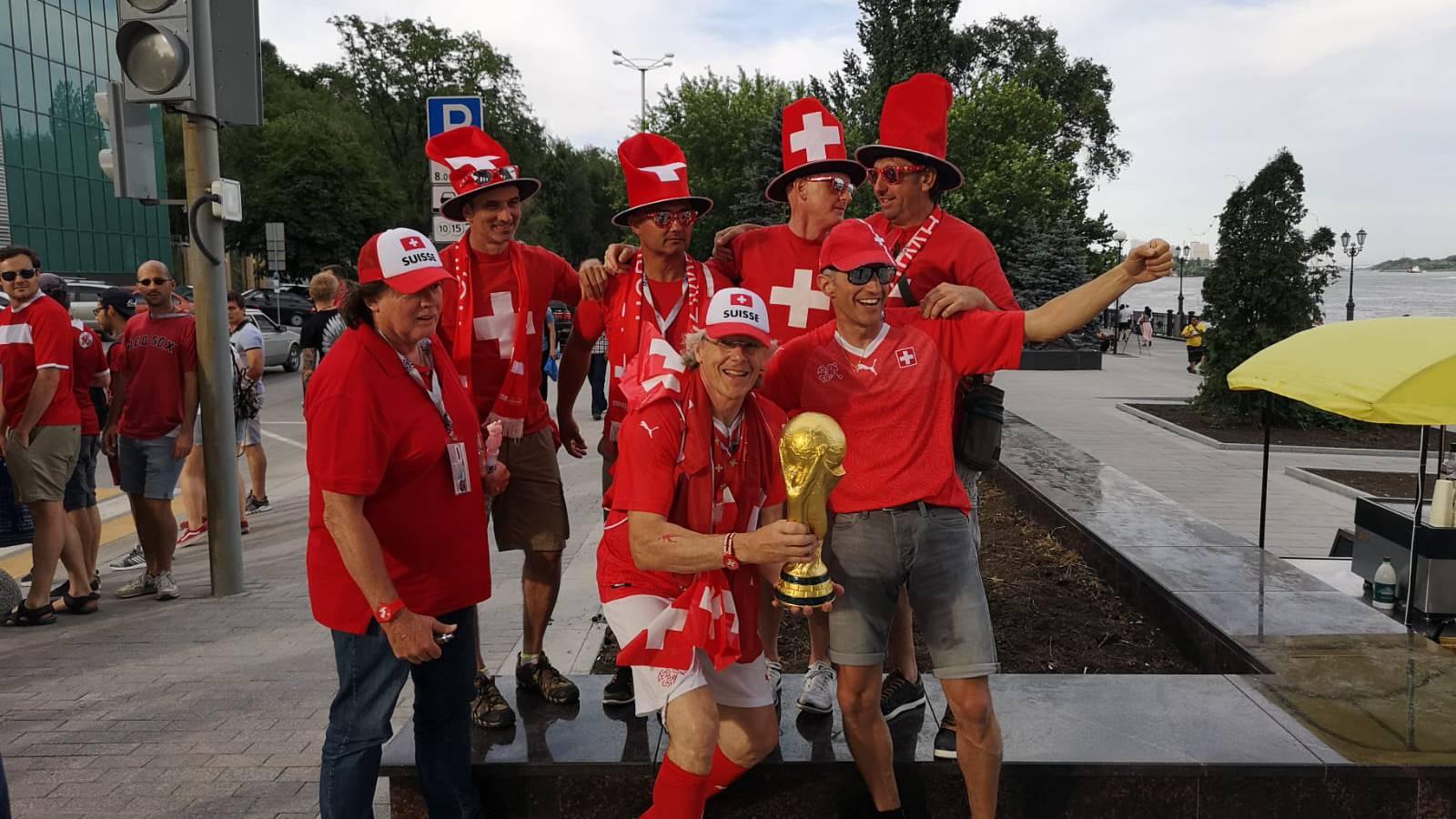 Die Schweiz vor dem Spiel gegen Serbien