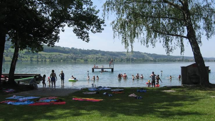 Nebst Baden und Schwimmen werden im Strandbad Tennwil zahlreiche andere Aktivitäten angeboten. (Bild: MR)