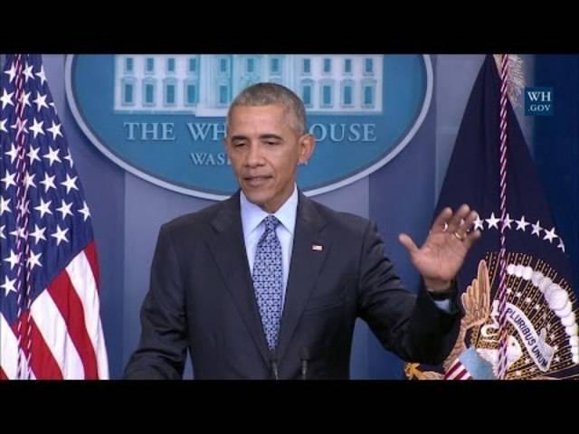 Obamas letzte Pressekonferenz im Weissen Haus in voller Länge.
