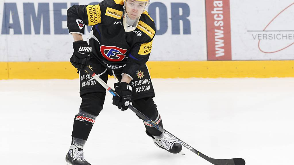 Fribourg-Gottéron - hier Topskorer Killian Mottet - hat als einziges Schweizer Team das Weiterkommen in  der Champions Hockey League schon auf sicher