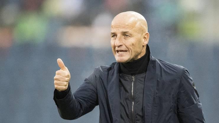 St.Gallen-Coach Peter Zeidler ist in seiner zweiten Saison gefordert.