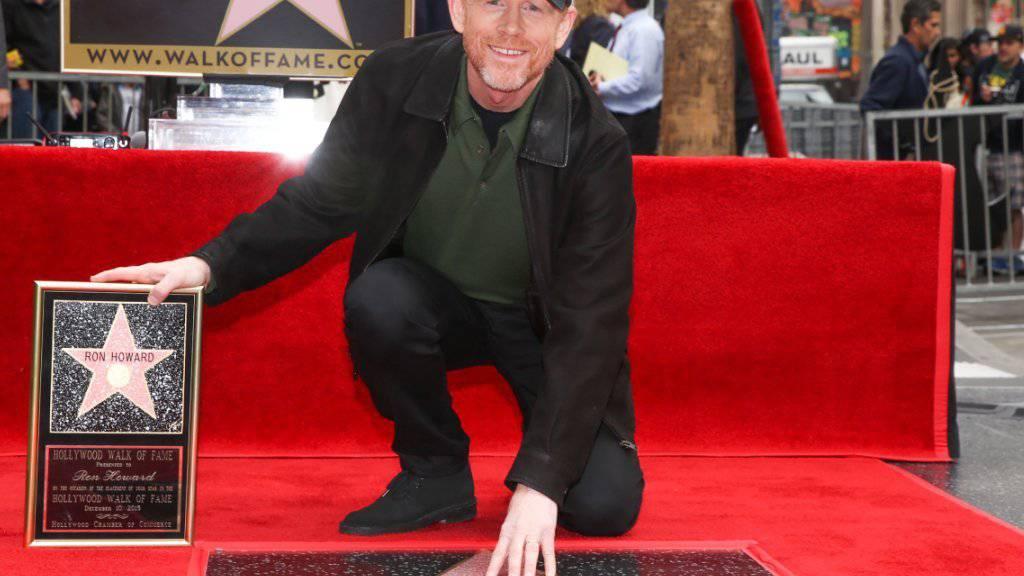 US-Regisseur Ron Howard hat jetzt zwei Sterne auf dem Walk of Fame.