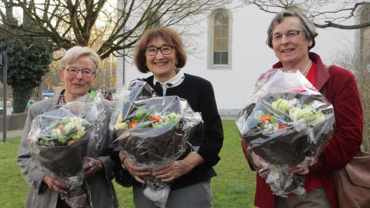 von links nach rechts: Ursula Gut, Ruth Blum, Marita Knecht