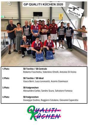1.Platz: SB Torchio / SB Centrale 2.Platz: SB Torchio / SB Ideal 3.Platz: SB Italgrenchen 3.Platz: SB Italgrenchen