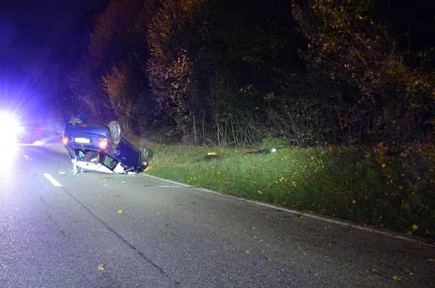 Der Betrunkene wurde beim Unfall verletzt.