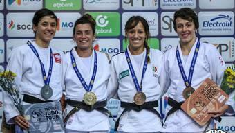 V.l.n.r: GP-Silber für Agata Perenc (Polen), Gold für Ana Perez Box (Spanien), Bronze für Joana Ramos (Portugal) und Evelyne Tschopp (Schweiz)