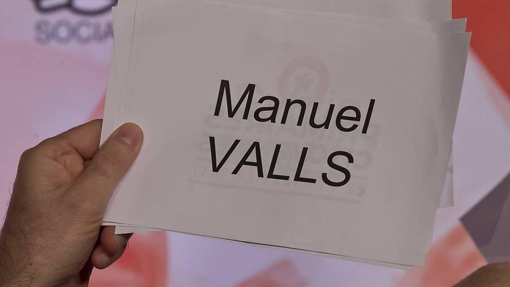 Die sieben Kandidaten für die Primärwahlen der französischen Linken werden präsentiert. Hier der Name des ehemaligen Regierungschefs.