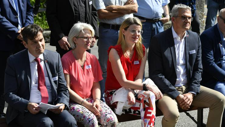 Von links: François und Veronika Scheidegger, Manuela Stolz und Steffen Hertwig aus Neckarsulm