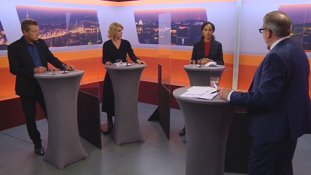 Wahlkampf-Talk «Bäregrabe»: Nause, Kruit und Schild