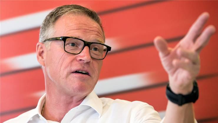 «Es kann vorkommen, dass ein Zugschef sich einmal dafür entscheiden muss, Personen zu bitten, doch bitte in einen anderen Zug umzusteigen»: SBB-Chef Andreas Meyer.