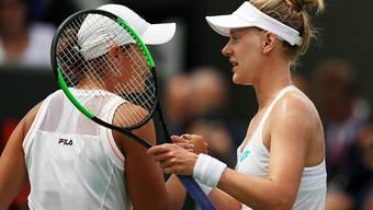 Alison Riske (rechts) beendete die Siegesserie von Ashleigh Barty, die zuvor 15 Partien in Folge gewonnen hatte