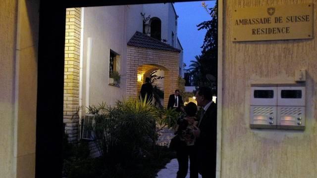 Haupteingang der Schweizer Botschaft in Tripolis (Archiv)