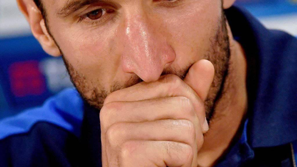 Will sich mit Italien am Bissen Spanien nicht verschlucken: Innenverteidiger Giorgio Chiellini