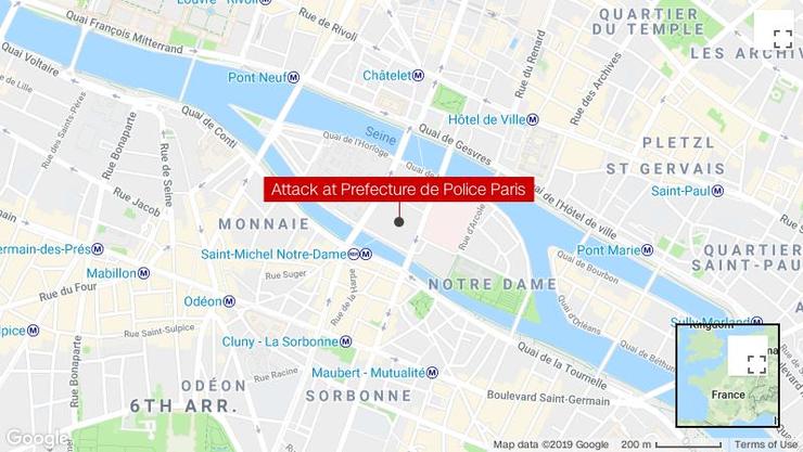 Hier, auf der Île de la Cité, hat die Attacke stattgefunden.
