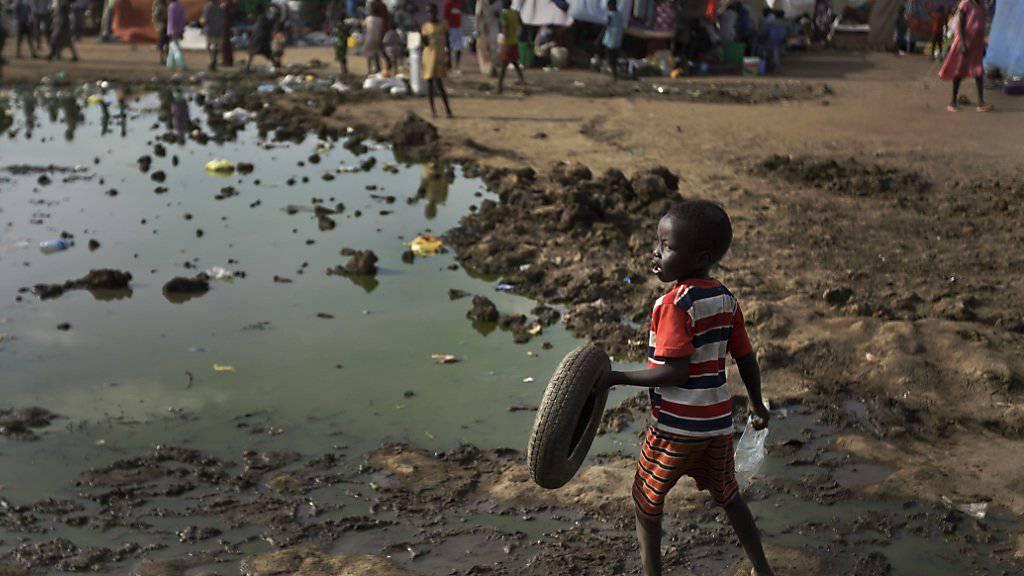 Ein Lager mit vertriebenen Menschen aus dem Südsudan: Zwei UNO-Organisationen erheben schwere Vorwürfe gegen das südsudanesische Militär. (Archivbild)