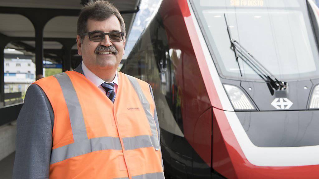 Der Chef von Bombardier Schweiz, Stéphane Wettstein, verteidigt seinen neuen Doppelstockzug mit dem Kürzel «FV Dosto». (Archivbild)