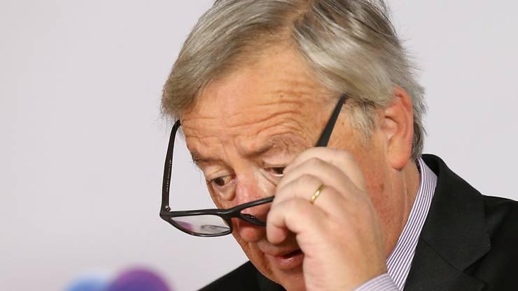 Nicht nur Absichtserklärungen: Der Präsident der Europäischen Kommission, Jean-Claude Junker, fordert zugesagte Hilfsgelder der EU-Mitgliedstaaten ein. (Archivbild)