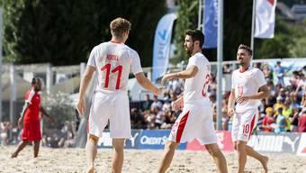 Die Schweizer Beach-Fussballer sind auch 2019 an der WM-Endrunde dabei. (Archivbild)