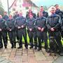 Das Korps der Regionalpolizei aargauSüd mit Chef Dieter Holliger (vorne Mitte) und Rottweilerhündin «Nayla vom Schwingerhuus».