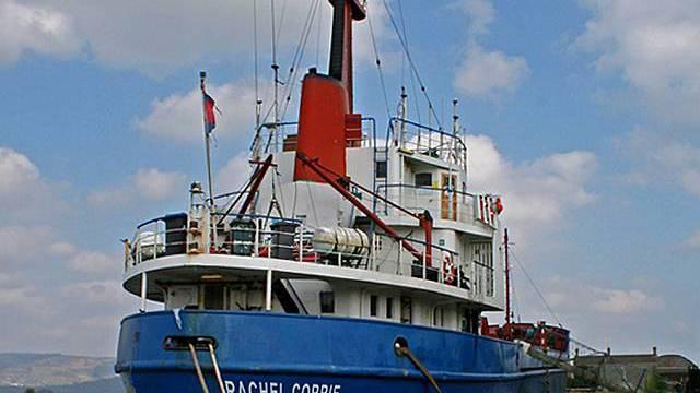Das irische Frachtschiff Rachel Corrie